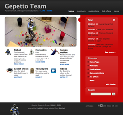 Screen shot of GEPETTO website