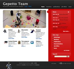 Screen shot of GEPETTO website